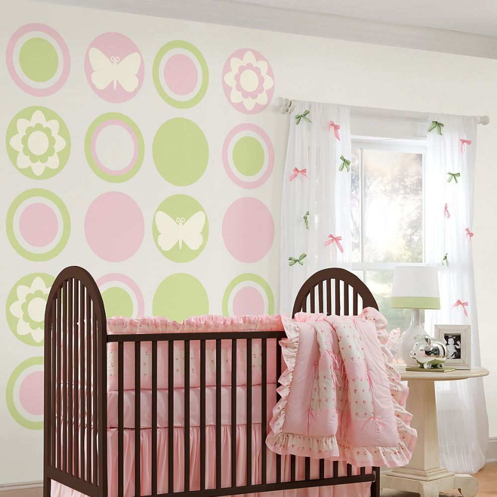 Butterfly and Flower Silhouettes - Ivory White -  Wall Sticker Set